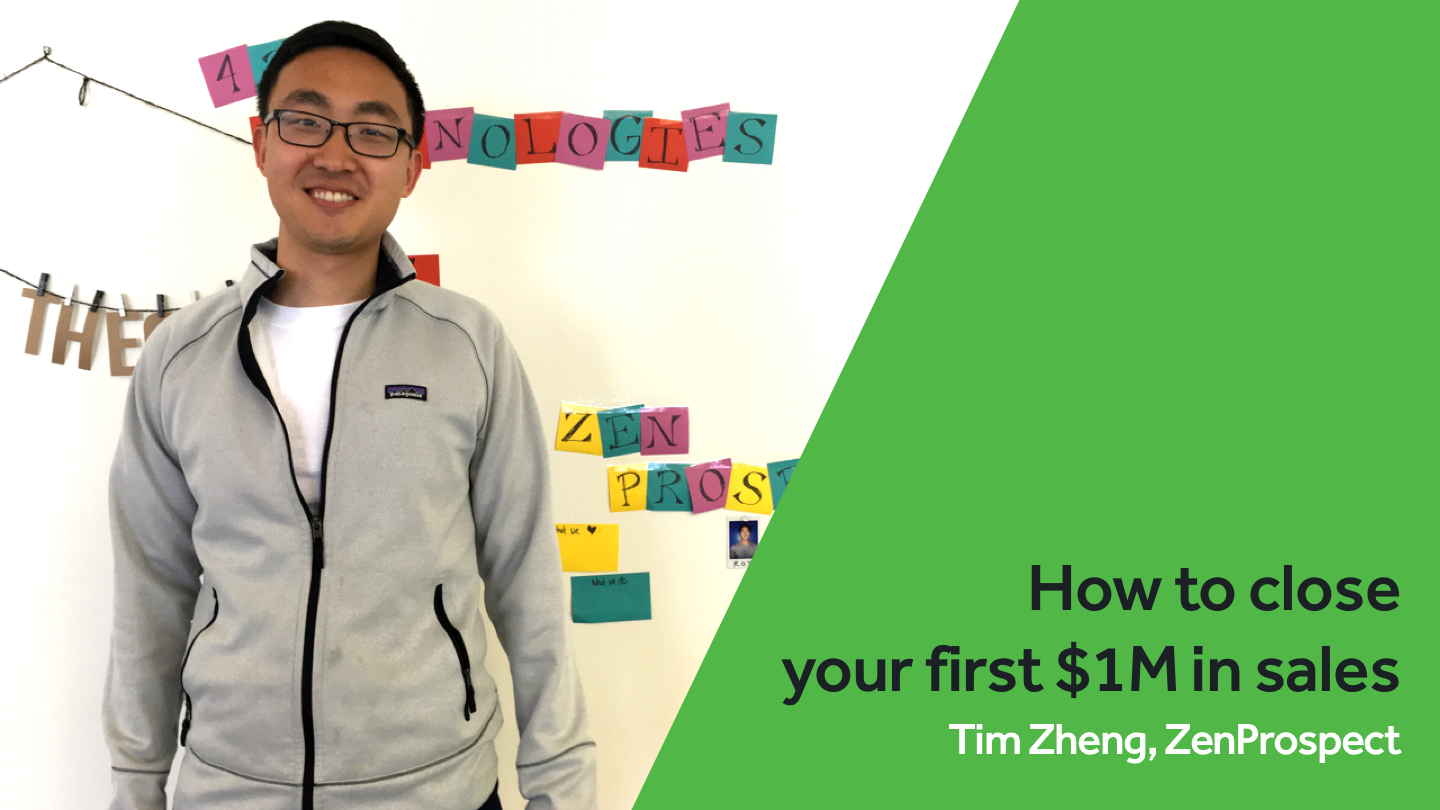 How to close your first $1M in sales